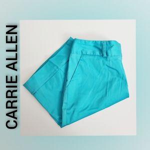 CARRIE ALLEN Bright Blue Bermuda Shorts Size 6